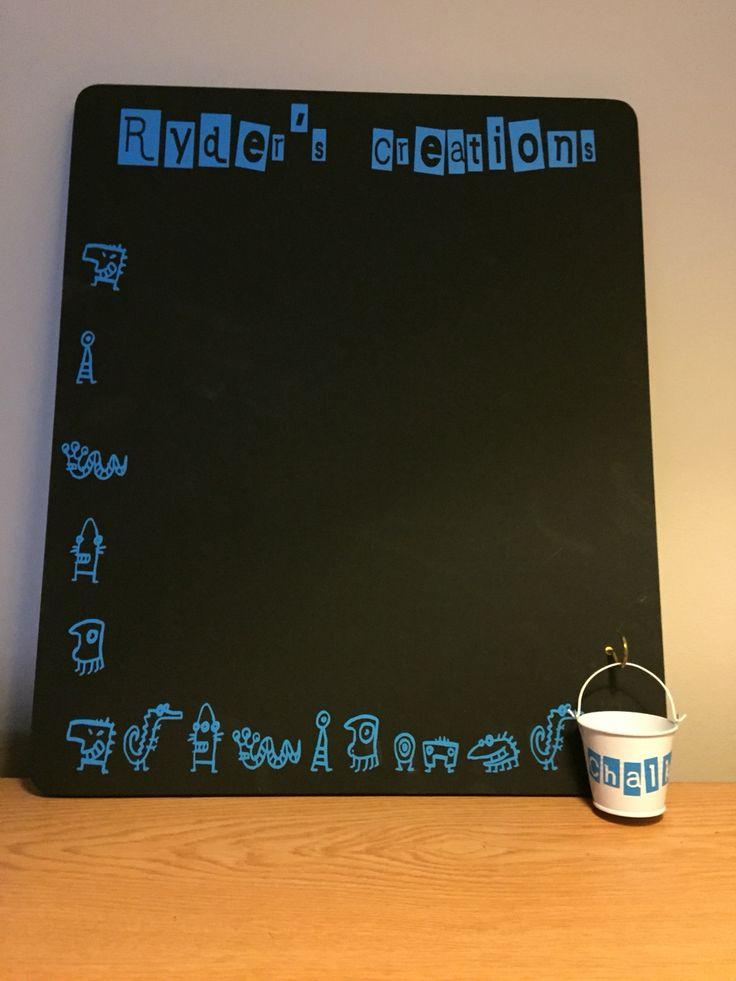 Personalised chalk board