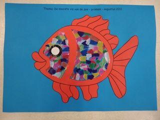 De mooiste vis van de zee met vliegerpapier en natuurlijk glitters