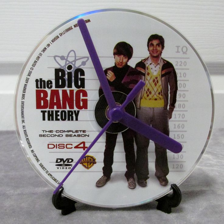 Big Bang Theory DVD Clock Upcycled TV Show - Howard & Raj by DarkStormTV on Etsy