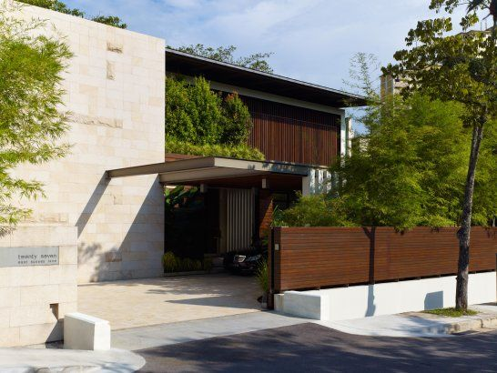Exotic resort-style architecture on Singapore's Sentosa Island