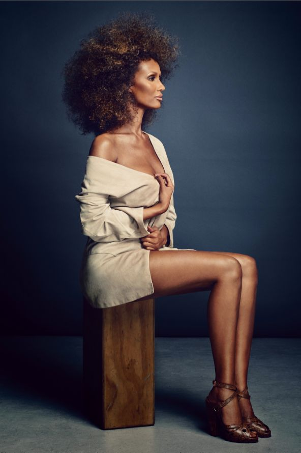 Iman by Douglas Friedman at age 60 #naturalhair