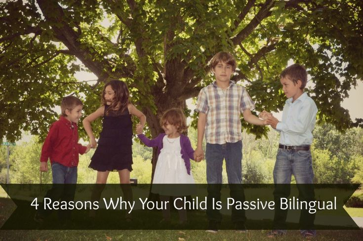 4 reasons why your child is passive bilingual -> glad to see what I believe the most important as #1 (NEED!)