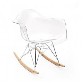 Кресло-качалка из пластика, прозрачное - EAMES RAR REPLICA