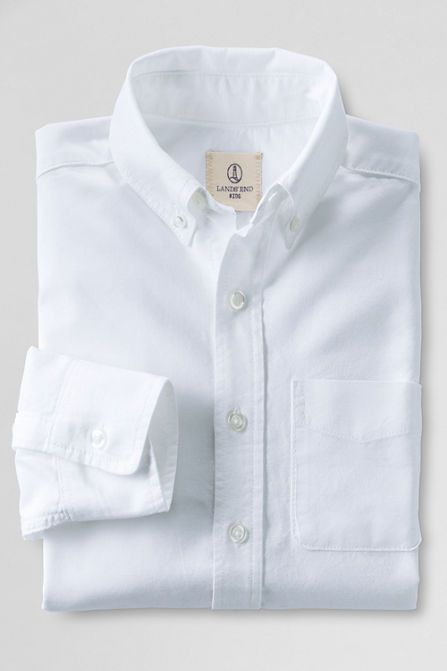 Kids' Washed Oxford Shirt from Lands' End