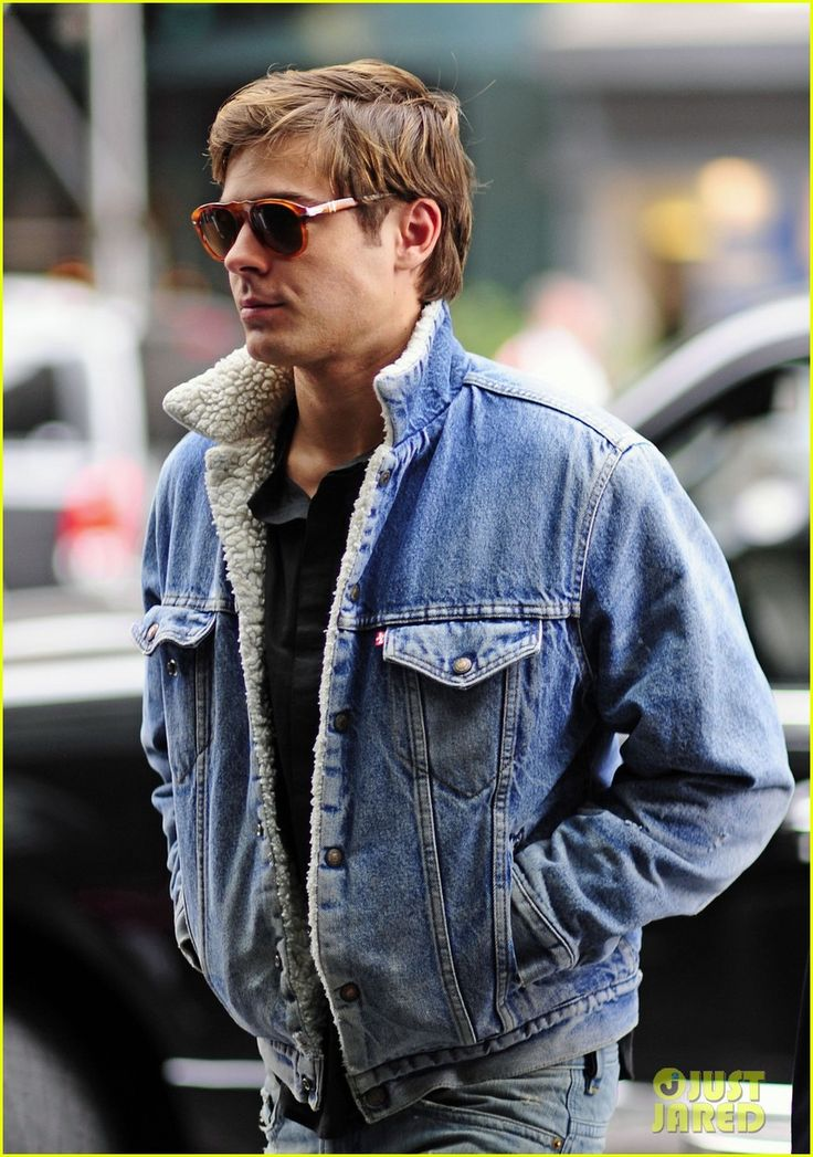 Efron EffortlessDreams Boys, Jeans Jackets, Zacefron, Men Fashion, Denim Jackets, Zac Efron, Efron Sports, Celebrities Sunglasses, 0649 Sunglasses