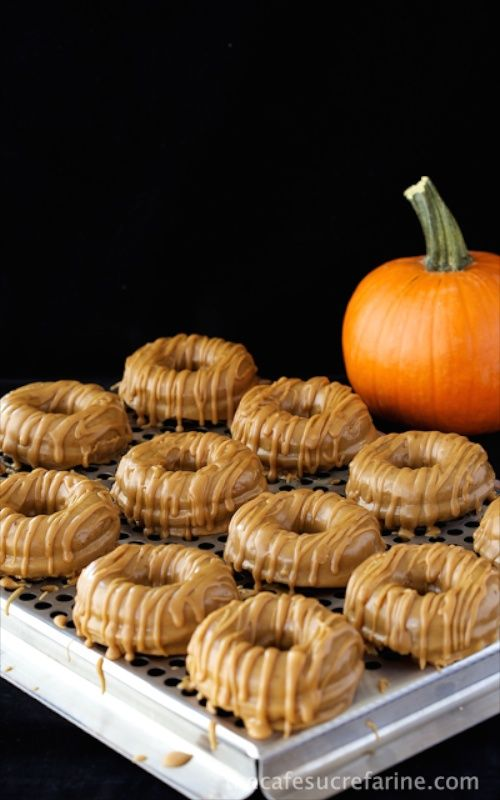 baked, not fried!Pumpkin Donuts, Baking Pumpkin, Brown Butter Maple ...