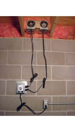 Reversible basement fan can automatically ventilate your basement to remove danky musty air.