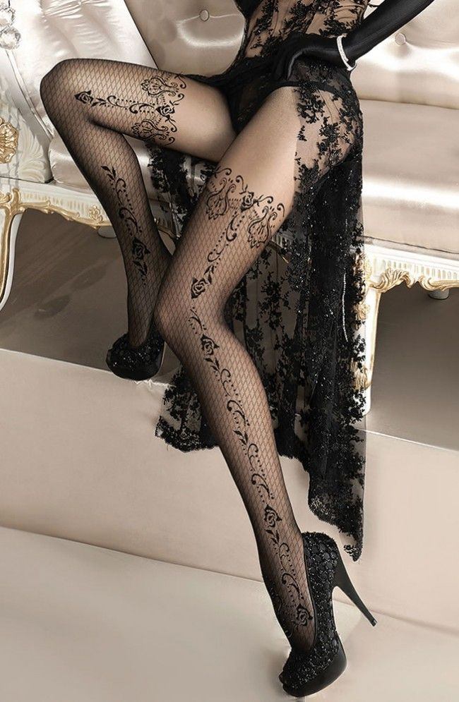 Ballerina Floral Suspender Tights