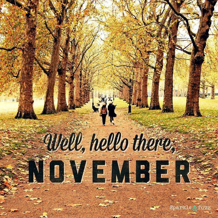 Well, Hello There November November Hello November November Quotes