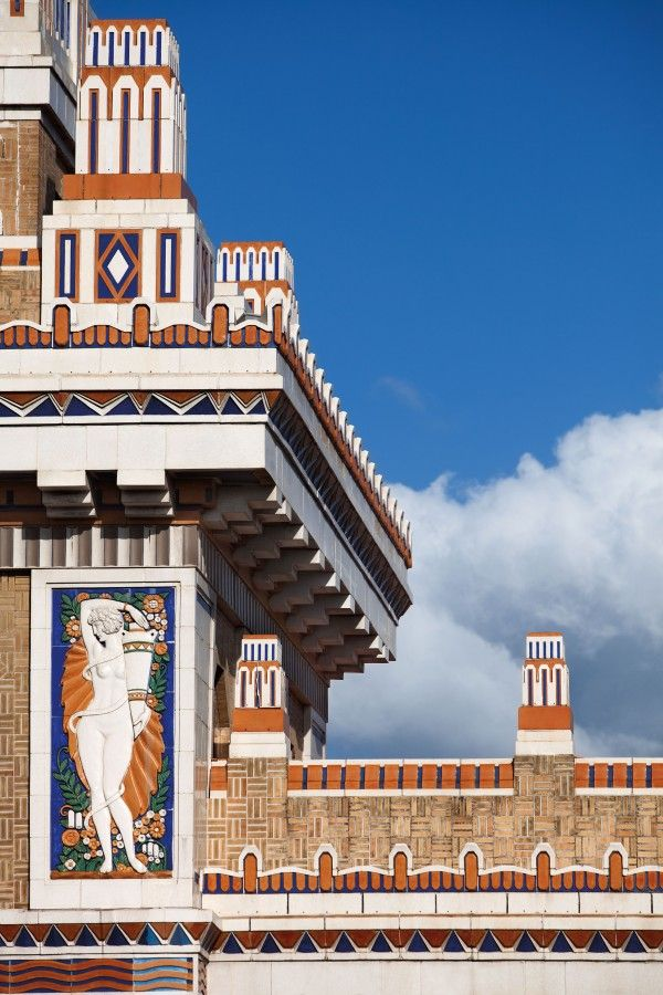 Havana's Bacardi building, once the headquarters of the Cuban rum empire, is distinguished by its modern architectural lines of art deco and glazed colorful terra-cotta embellishments.