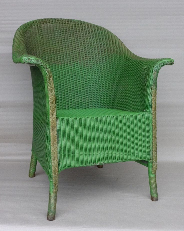 LLOYD LOOM OLD GREEN CHAIR