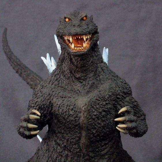 "atomic-crusader: ""Yuji Sakai's Godzilla model kit based on Noriyoshi Ohrai's design on the poster for The Return of Godzilla (1984) """