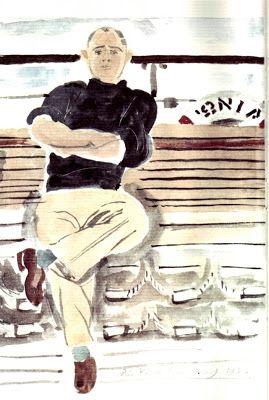 Πορτραίτο του ποιητή Νίκου Καββαδία από τον Γιάννη Τσαρούχη.