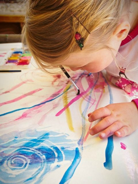 Art with Toddlers: Magic Paintings {from An Everyday Story on Kidspot}