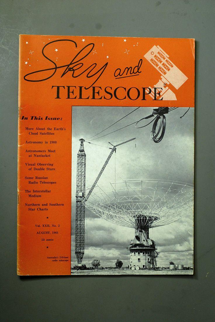 Vintage Sky and Telescope magazine, August 1961 | Boeken, strips en magazines, Tijdschriften en magazines | eBay!
