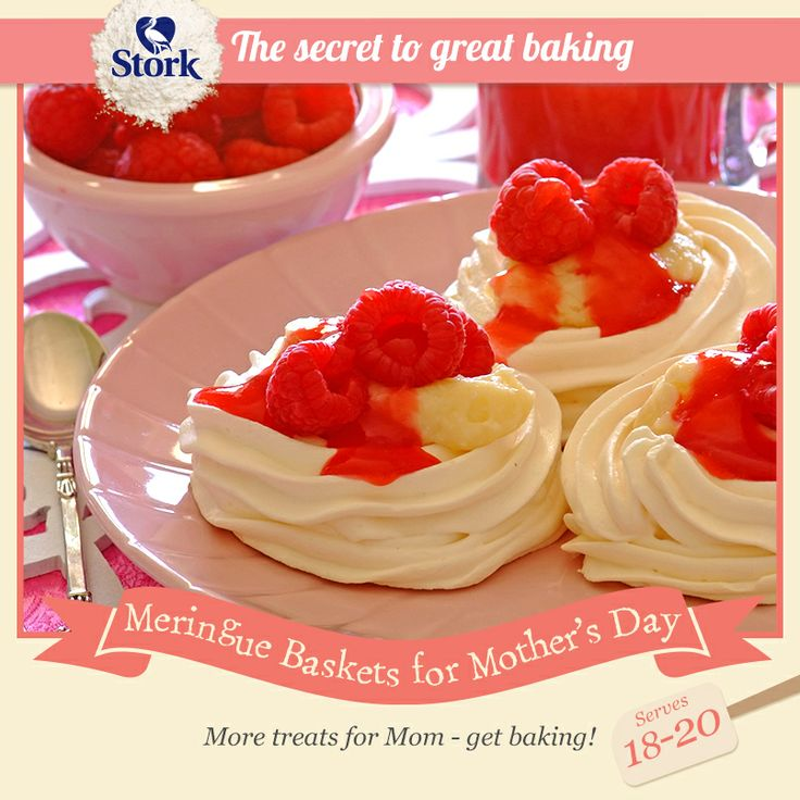 Meringue baskets #recipe for Mother's Day