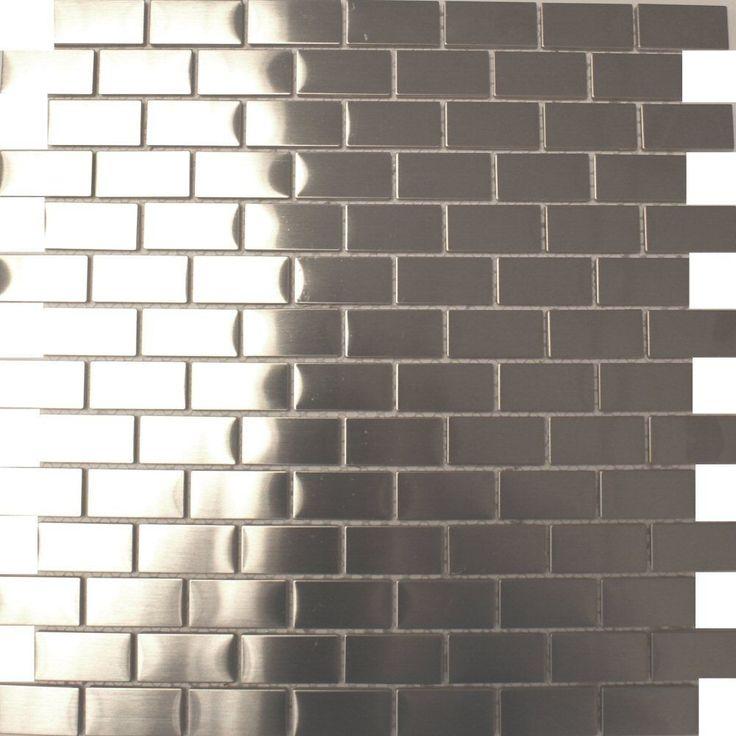 Brick Shaped Metal Tiles Metal Mosaic Tiles 300x300x5mm Tiles