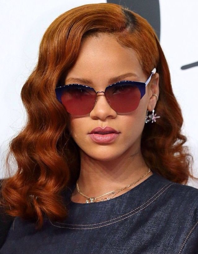 Rihanna in new ginger hair color!