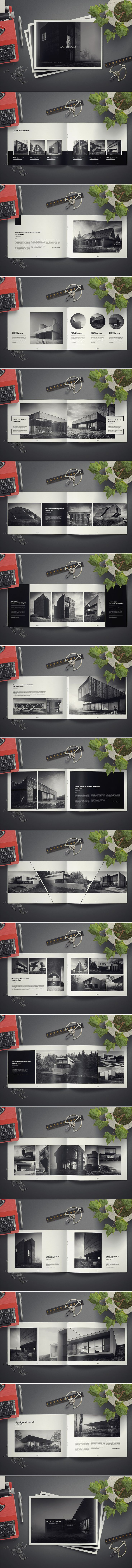 Architecture Landscape Brochure on Behance                                                                                                                                                     More