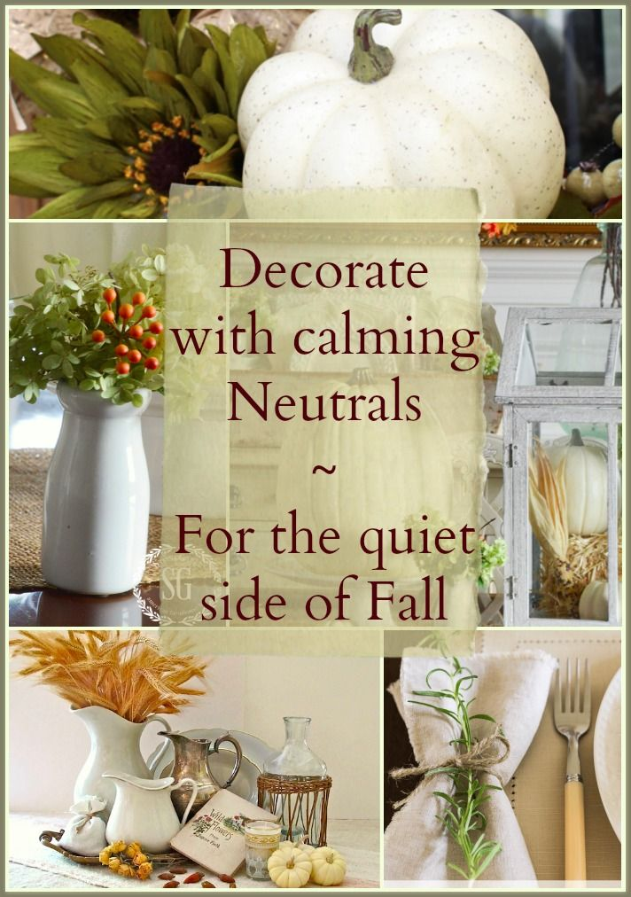 neutral fall decor 5 bloggers show the quiet side of fall - Fall Decorations Ideas