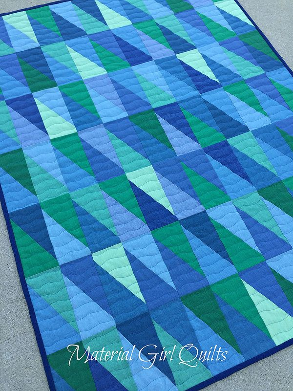 Oakshott baby blues quilt by Amanda Castor of Material Girl Quilts