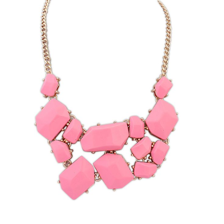 Песня хе же пункте улице избили камень ожерелье геометрическая смола розовый голубой желтый черный колье мода ожерелья для женщин 2015