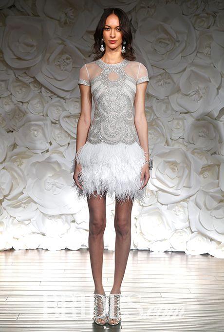 17 best ideas about mini wedding dresses on pinterest for Short feather wedding dress