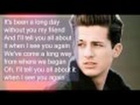 [No RAP version] See You Again - Charlie Puth with Lyrics - YouTube