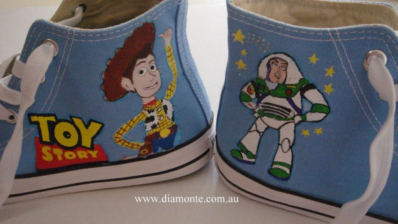 Toy Story Slippers : Best hand painted kids shoes images on pinterest