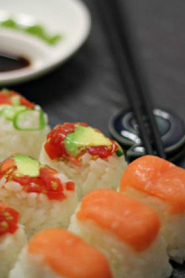 ice cube sushi sushi recipes ice tray recipes ice tray hacks ice tray ...