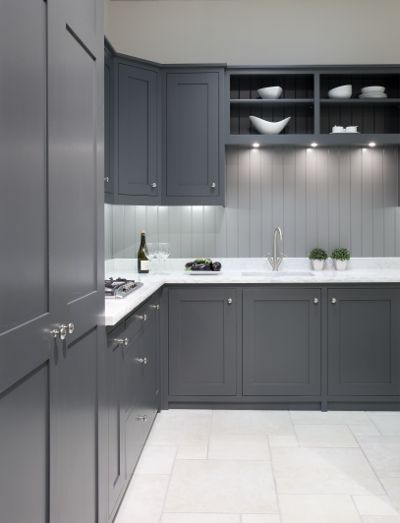 Grey Kitchens on Pinterest  Grey cabinets, Inset cabinets and Cabinet