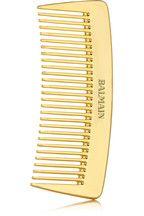 Balmain Paris Hair CouturePeigne de poche en plaqué or