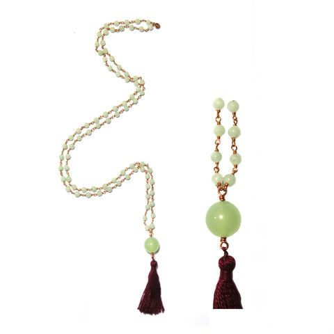 H15 - Bring Serenity | Jade, Copper wire, 70cm, 14.5gr | Anna Michielan for Oishii Jewelry #jade #copperwire #babyjoy #collection #annamichielan #oishii #healing #jewelry #forthesoul #natural #remedies #mala #baby #accessories #crystal #stone #gem #mineral #boho