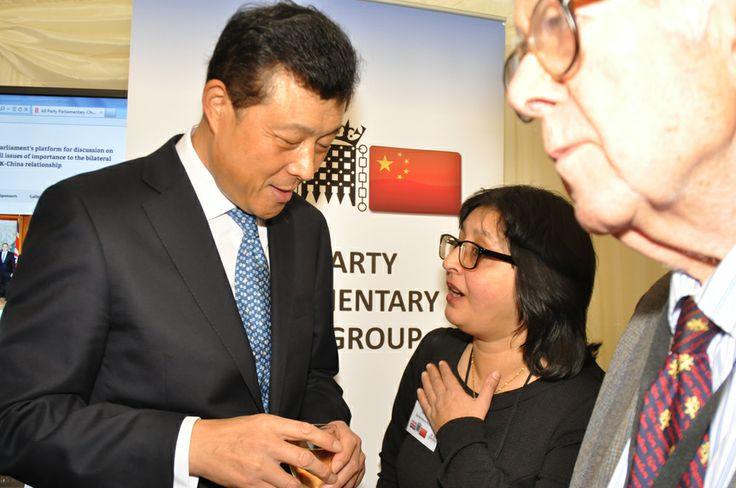 Refat Yasmeen from Spidervision Productions Ltd in deep concersation with His Excellency Liu Xiaoming