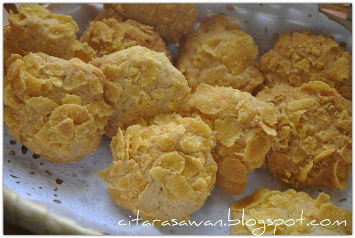 Biskut Cornflakes Crunch / Cornflakes Crunch Cookies