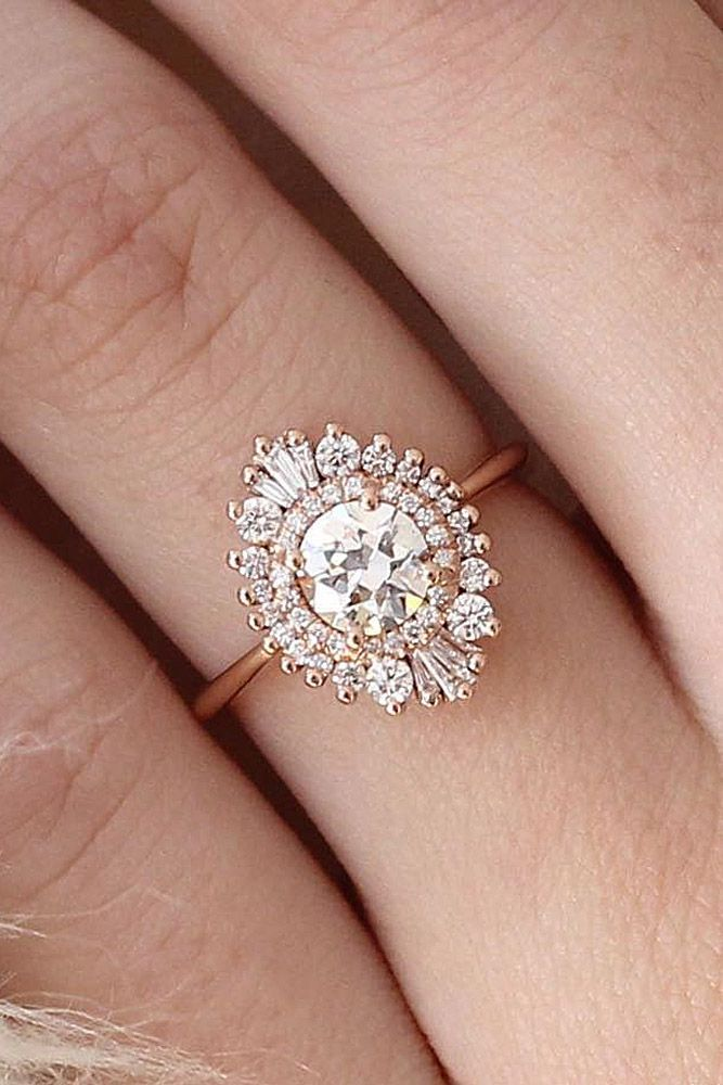 24 Vintage Engagement Rings With Stunning Details ❤ See more: http://www.weddingforward.com/vintage-engagement-rings/ #wedding #engagement #rings