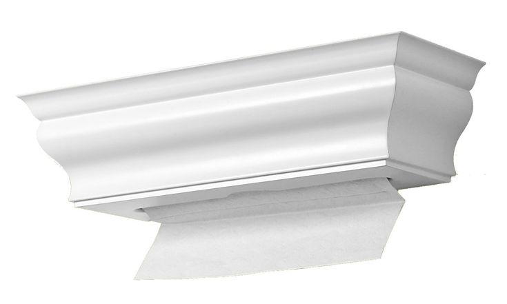 Amazon.com - papel toalha distribuidor Madeira, Branco Prateleira Saudável, folhas soltas, suporte de parede, carga superior - Casa de Banho Wipes mais limpo e Panos