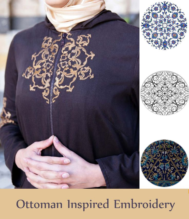 SHUKR's Ottoman inspired embroidered tunic featuring geometric design.