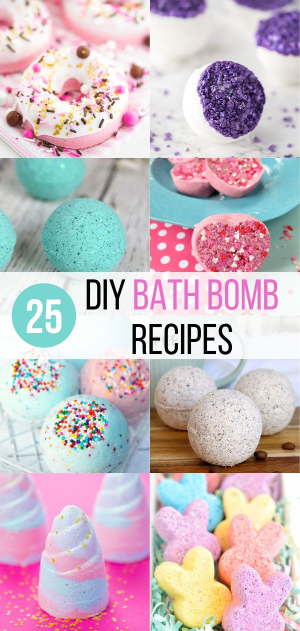 25 DIY Bath Bomb Recipes You Need to Try