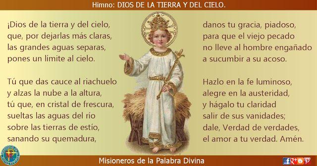 MISIONEROS DE LA PALABRA DIVINA: HIMNO LAUDES - DIOS DE LA TIERRA Y DEL CIELO