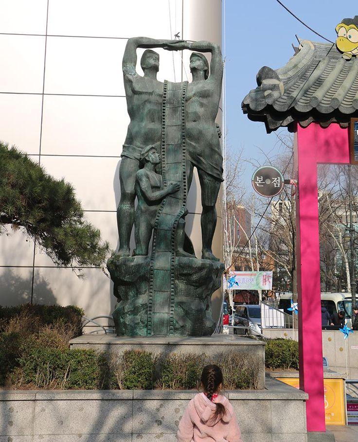Sculpture in Insadong Korea