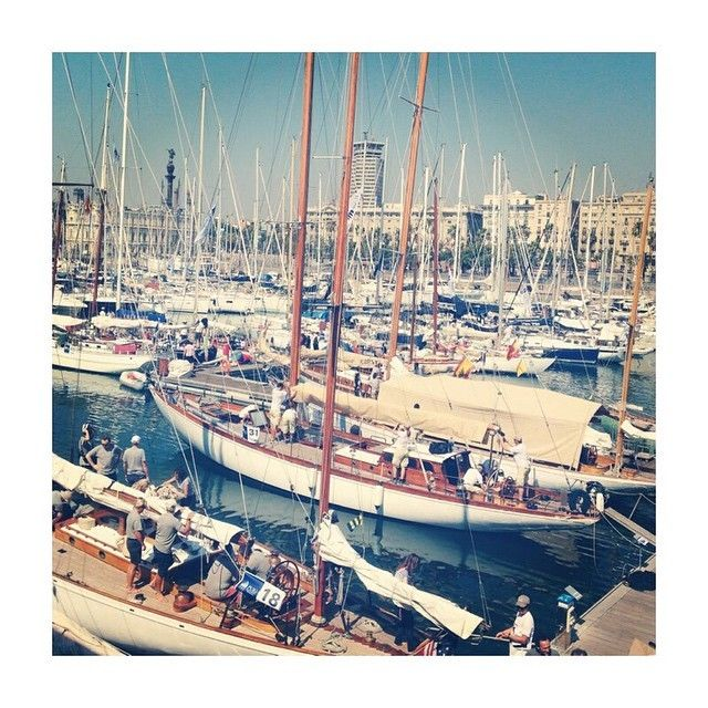 Ready to set sails the Mediterranean awaits!  #barcelona #harbour #yacht #spain #spainluxurytravel #sun #relax #summer #regatta #holidays #classicboat #vacation #getaway