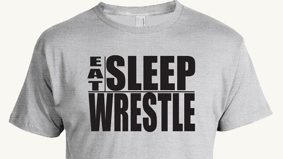 Funny Wrestling T-shirt, Eat Sleep Wrestle, singlet, freestyle, folkstyle, Greco-Roman