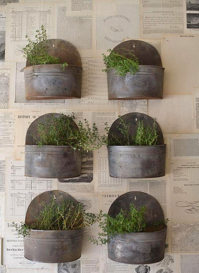 Insanely Cool Herb Garden Container Ideas - 25+ Best Ideas About Outdoor Wall Planters On Pinterest