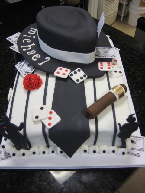 для фото тортов для гангстерской вечеринки считался необычайно талантливым