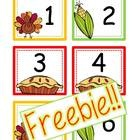 {FREEBIE!!} This is a set of November calendar cards numbers 1-30 with a Holiday Thanksgiving and Veterans Day card option!