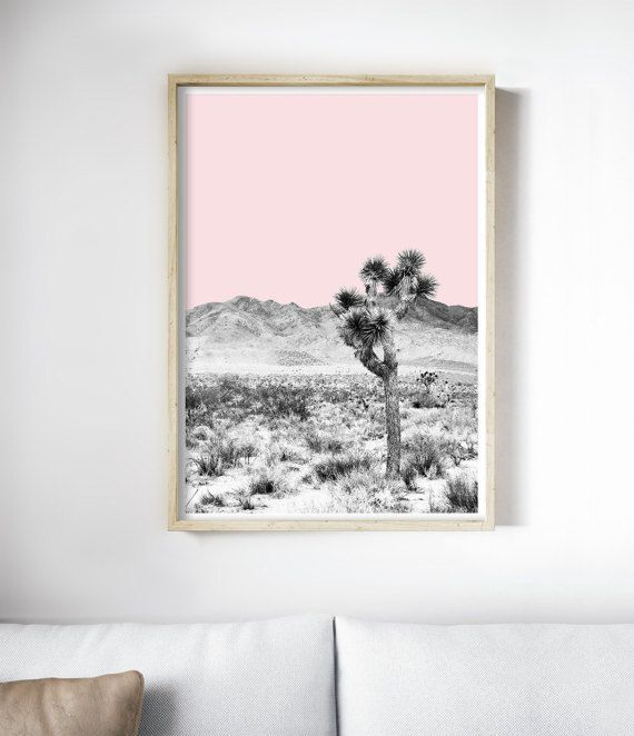 Desert Print | Joshua Tree Wall Art | Bohemian Art | Southwestern Decor | South Western Style. Art Print by Little Ink Empire