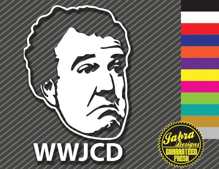 WWJCD VINYL STICKER DECAL STIG BBC TOP GEAR RACE CAR EURO FRESH JEREMY CLARKSON