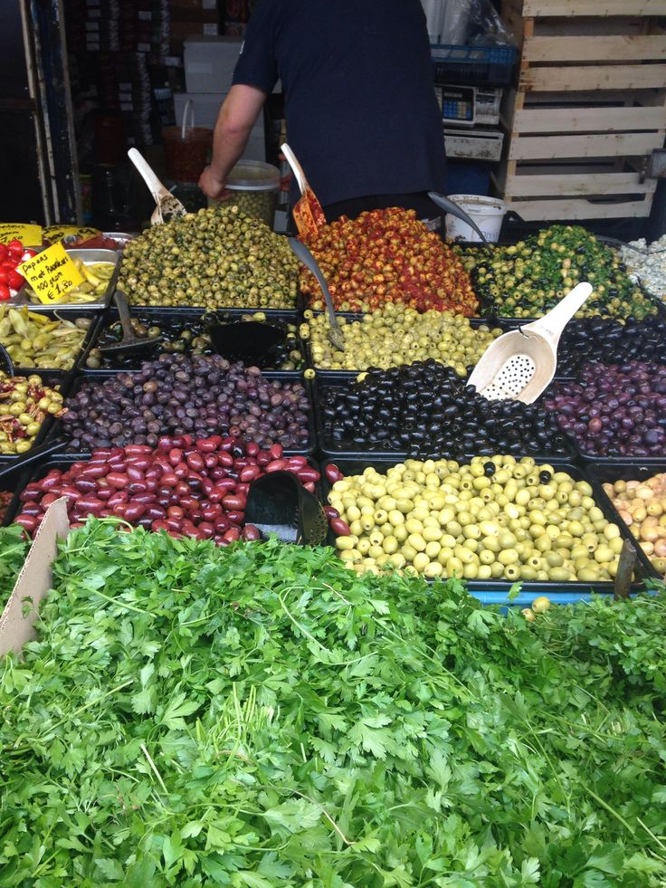 Olives at the local market