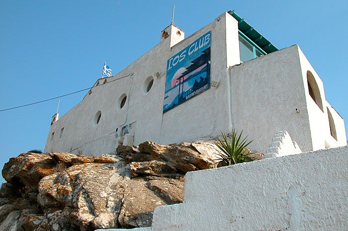 A club in  the village, Ios, Greece islands